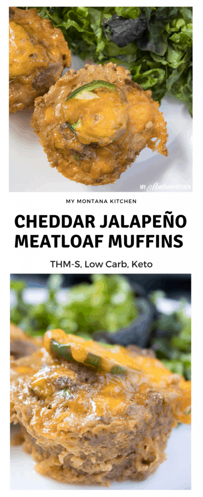 Cheddar Jalapeño Meatloaf Muffins (Low Carb, THM-S, Keto) #trimhealthymama #thm #thms #keto #glutenfree #meatloaf #meatloafmuffins #easydinneridea #jalapeno #meatloaf #cheddar