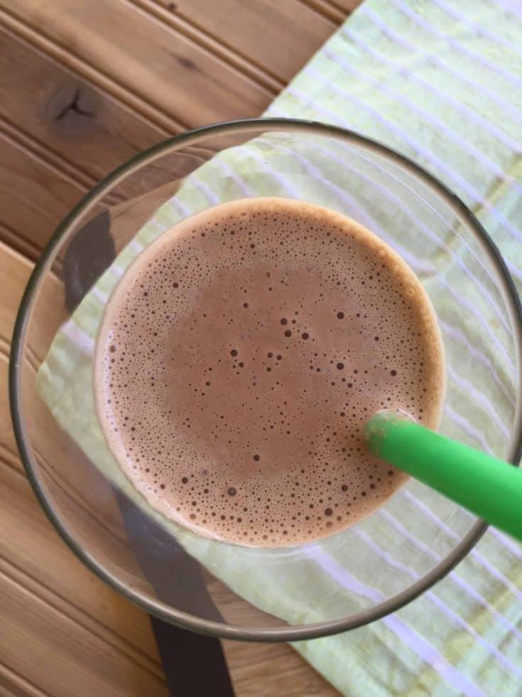 Secret Ingredient Chocolate Peanut Butter Milkshake (THM-FP, Low Carb, Sugar Free)