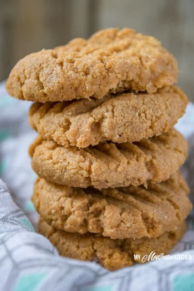 low-carb-peanut-butter-cookies-stacked