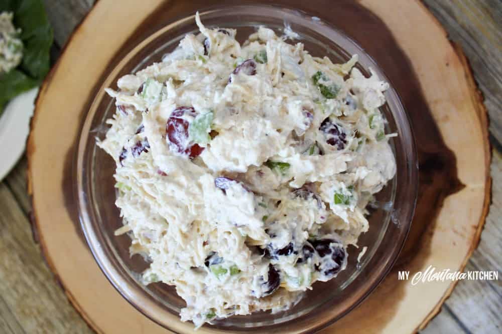 Healthy Chicken Salad (THM-FP or E, Sugar Free) #trimhealthymama #thm #thmfp #thme #lowcarb #healthycarb #lowfat #chickensalad