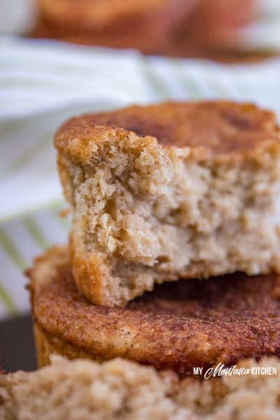Healthy Banana Muffins (THM-E, Gluten Free, Sugar Free) #trimhealthymama #thm #thm-e #banana #bananamuffins #healthymuffins #lowfat #flourless #glutenfree #healthycarb