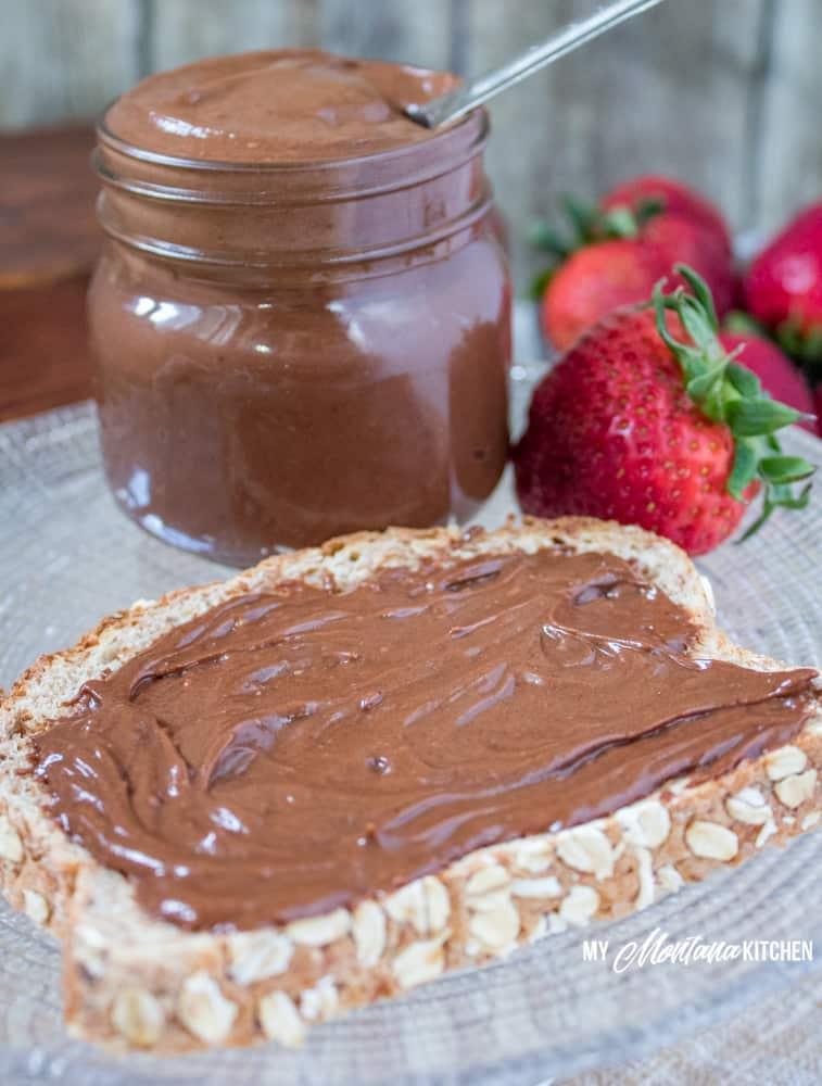 Chocolate Peanut Butter (Sugar Free, Low Carb, THM-FP) #trimhealthymama #thm #thmfp #sugarfree #lowcarb #keto #peanutbutter #chocolate #chocolatepeanutbutter #lowfat #dairyfree