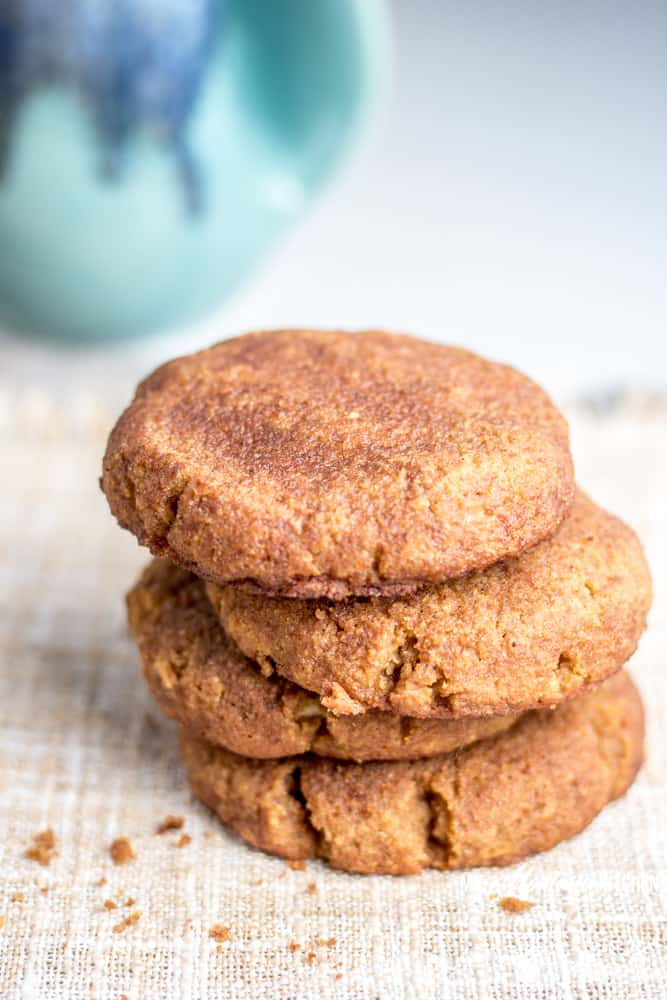 Sweet, dense pumpkin cookies filled with a rich layer of sweetened cream cheese. These low carb, sugar free Pumpkin Snickerdoodles are are the cookies of your low carb dreams! These pumpkin cookies make the perfect low carb pumpkin dessert! #trimhealthymama #thm #thms #lowcarb #keto #glutenfree #sugarfree #pumpkin #pumpkincookies #snickerdoodles #creamcheese #pumpkinsnickerdoodles #mymontanakitchen