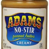 Adams, No-Stir Peanut Butter Creamy, 16 oz