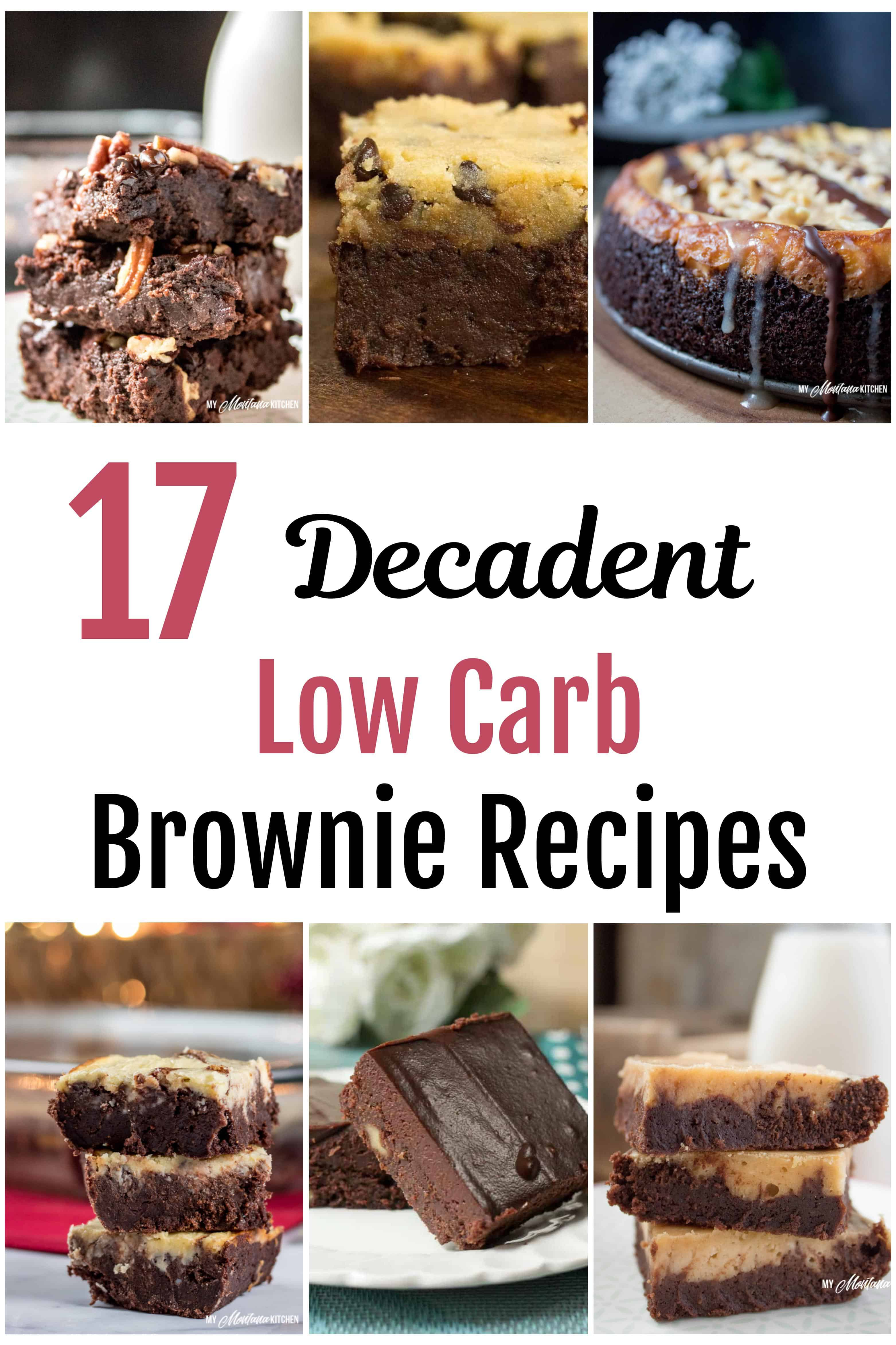 "These decadent, fudgy low carb brownies will satisfy that ""perfect brownie"" longing. But the good news here is that all of these brownies are low carb, sugar free, and a Trim Healthy Mama S Fuel! #lowcarbbrownie #ketobrownies"