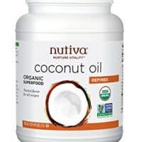 Nutiva Organic, Neutral Tasting, Steam Refined Coconut Oil from non-GMO, Sustainably Farmed Coconuts, 78-ounce