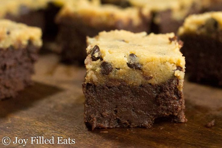 Chocolate Chip Cookie Dough Brownies - Low Carb, Keto