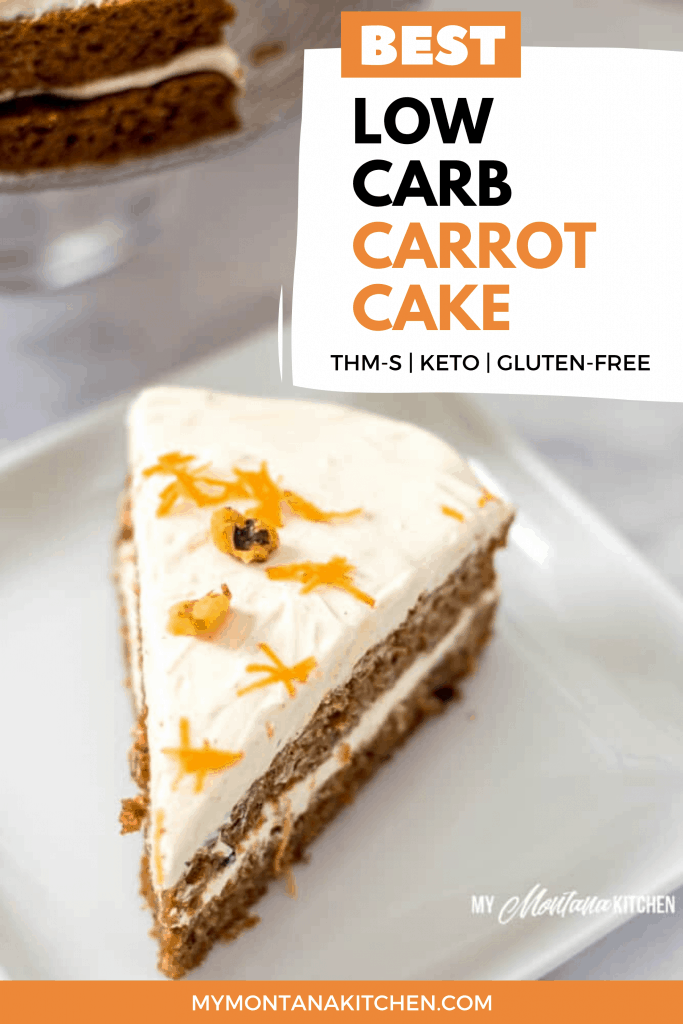 keto carrot cake on white plate