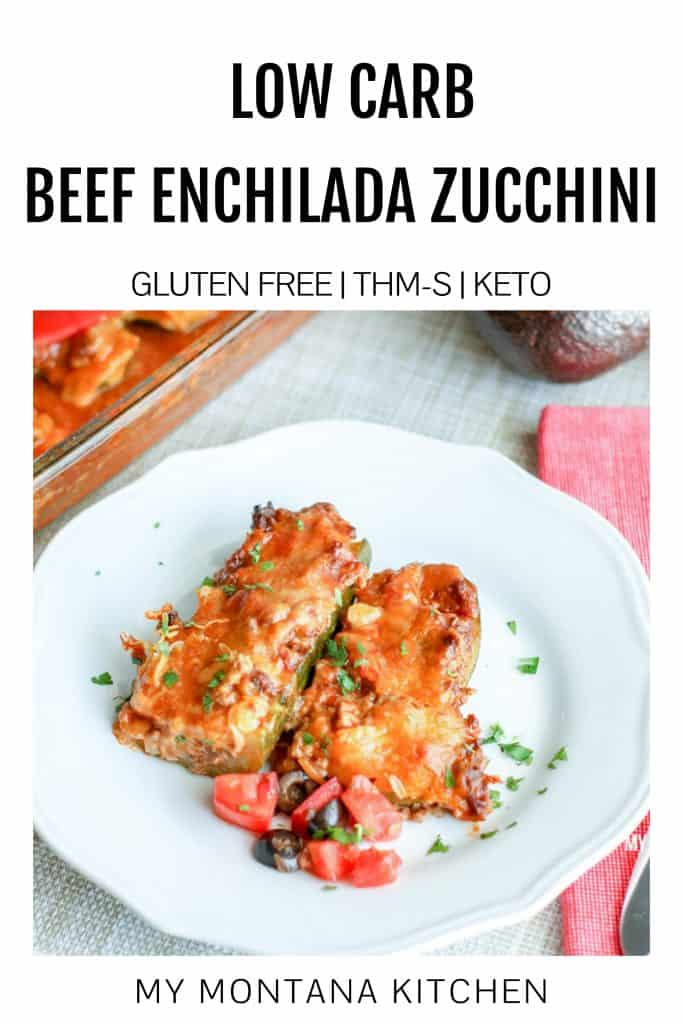 low carb Beef Enchiladas Stuffed Zucchini