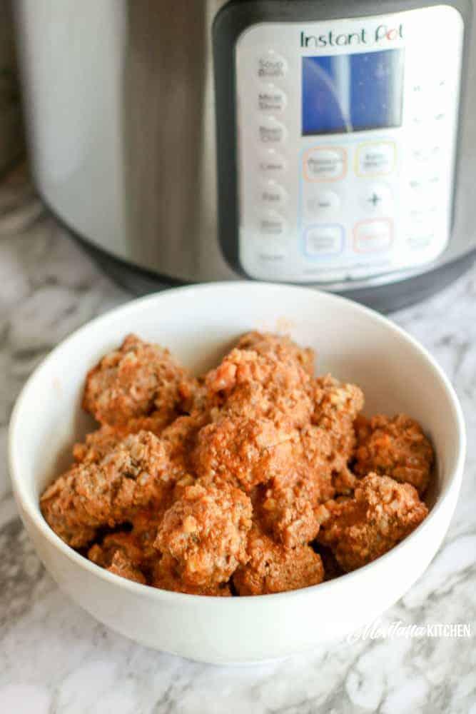 Instant Pot Low Carb Porcupine Meatballs