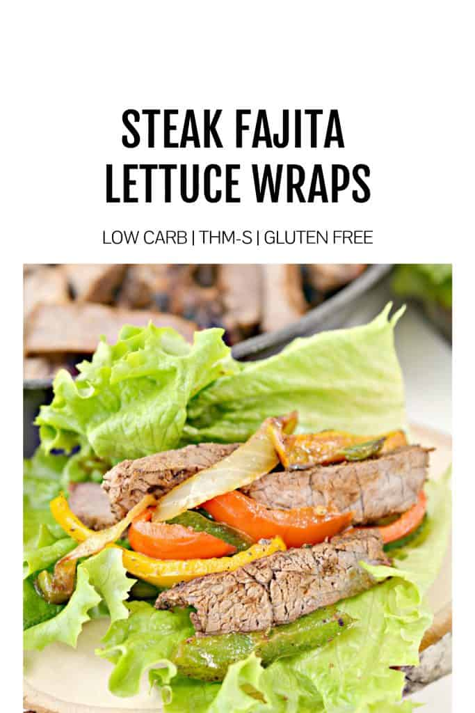 low carb steak fajita lettuce wraps