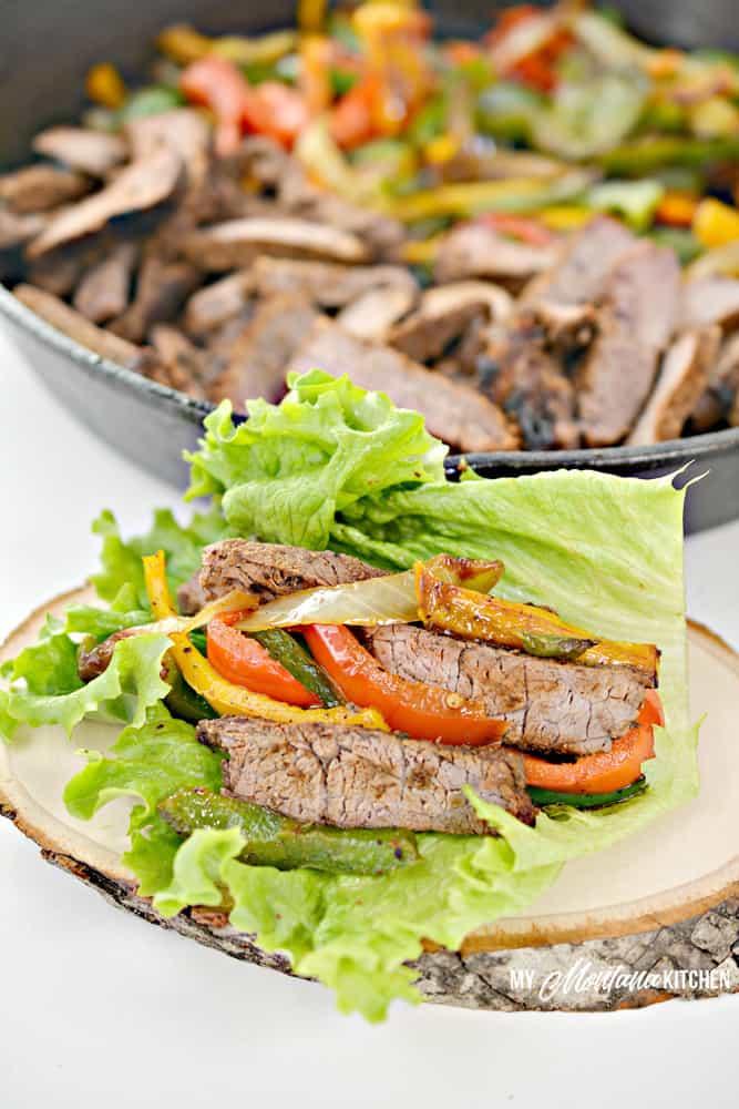 beef fajita lettuce wraps
