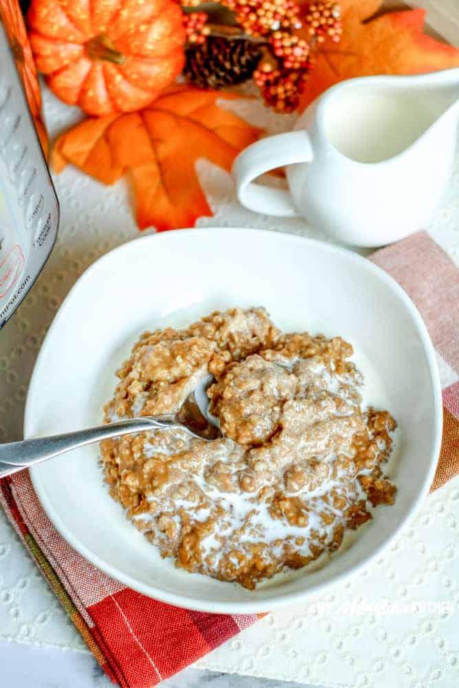 Instant Pot Pumpkin Spice Oatmeal
