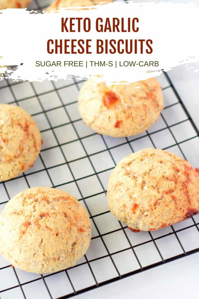 low carb biscuits pinterest image