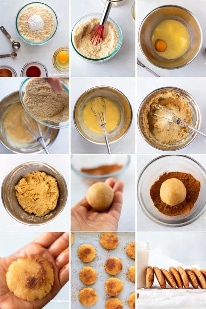 step-by-step-photo instructions for making snickerdoodle cookies