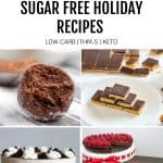 sugar free recipe collage featured image