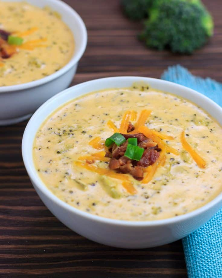Instant Pot Keto Broccoli Chicken Bacon Cheese Soup