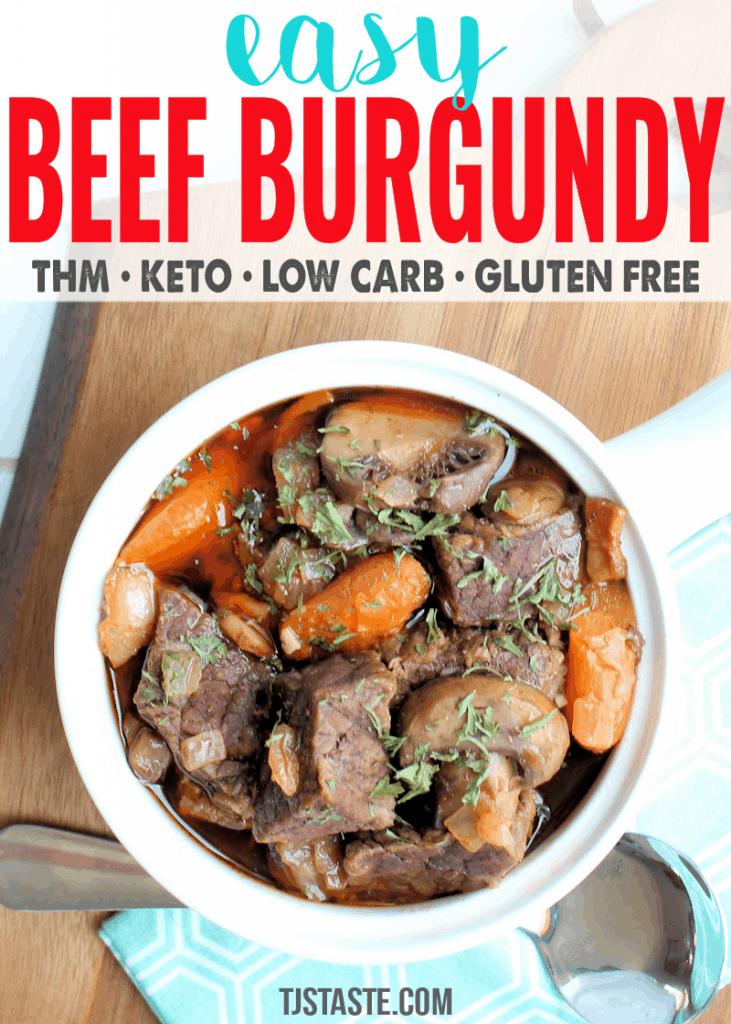 Easy Beef Burgundy (THM S • Keto)