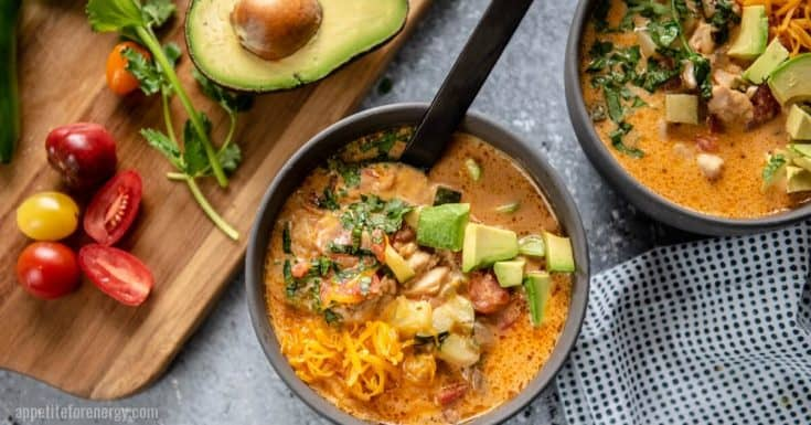 Crazy Good Low Carb Chicken Taco Soup