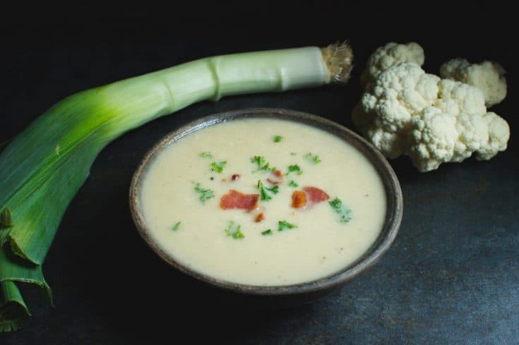 "Low-Carb ""Potato"" Leek Soup - Simply So Healthy"