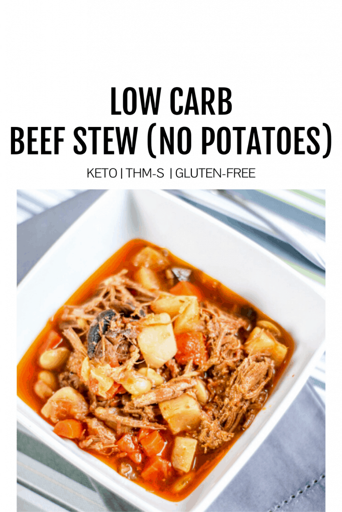 Feature image for low carb beef stew