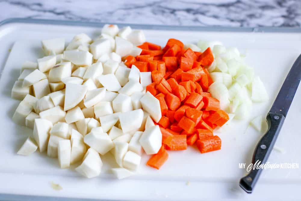 Ingredients for keto beef stew