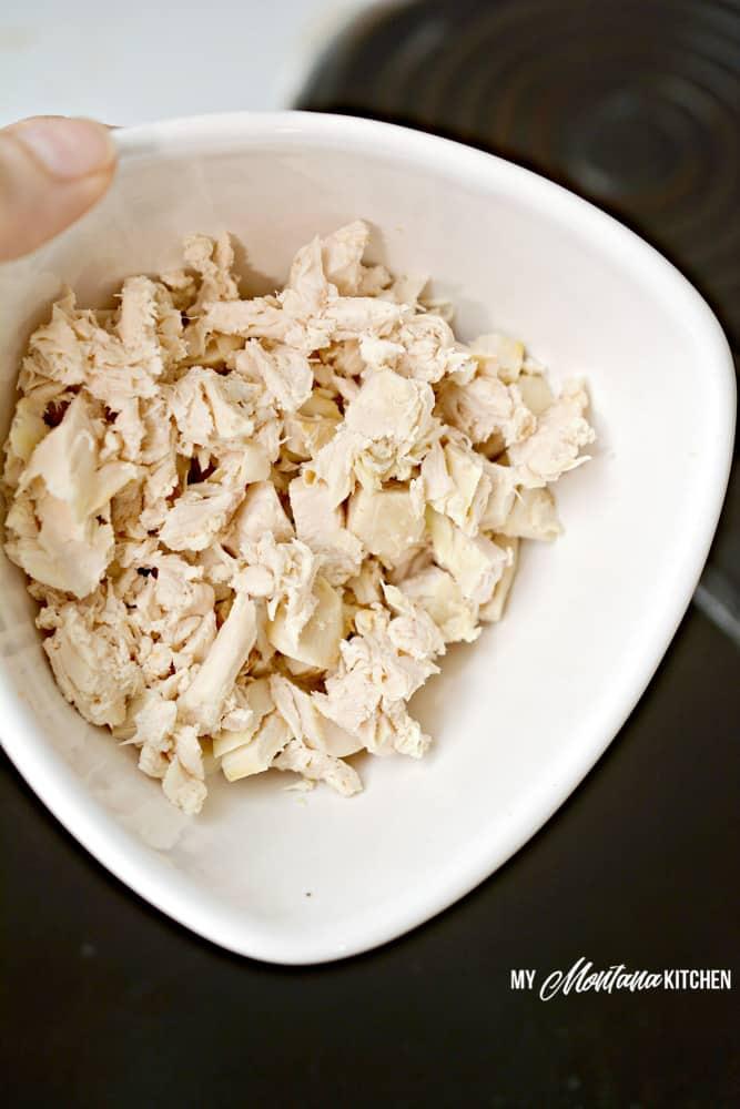 Image of chicken chunks