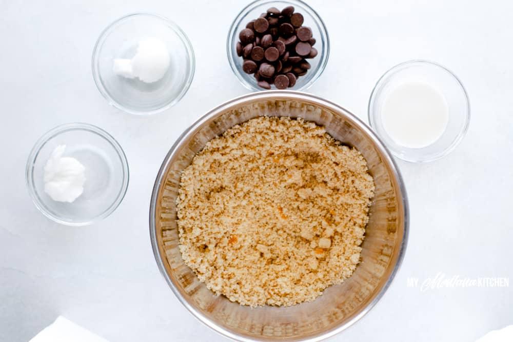 Ingredients for keto cookie truffles