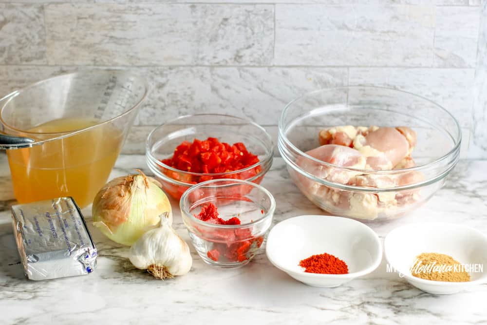 Ingredients for low carb chicken taco soup