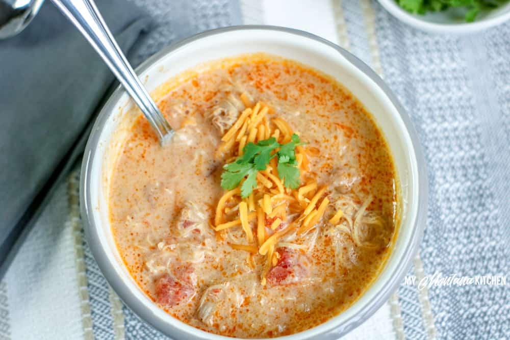 Image of keto chicken taco soup