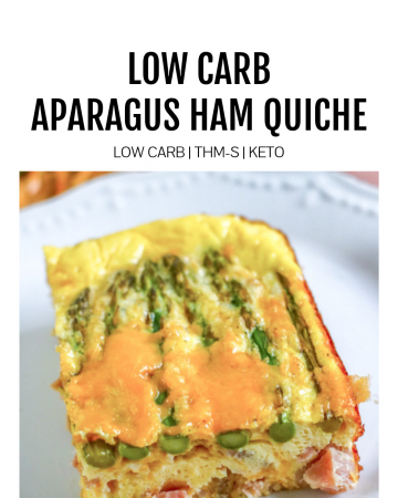 Featured Image for Low Carb Asparagus Ham Quiche