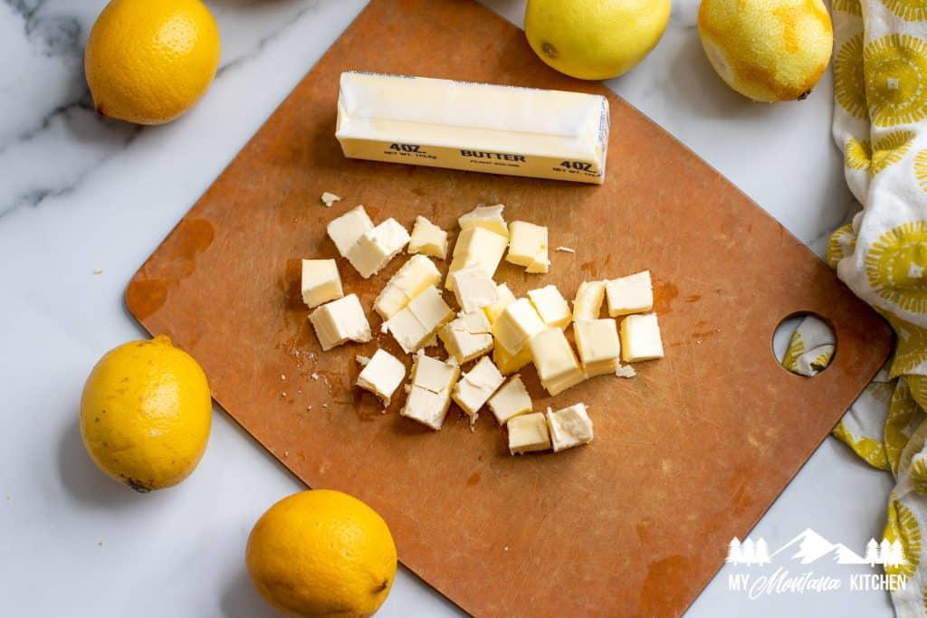 Ingredients for keto lemon curd