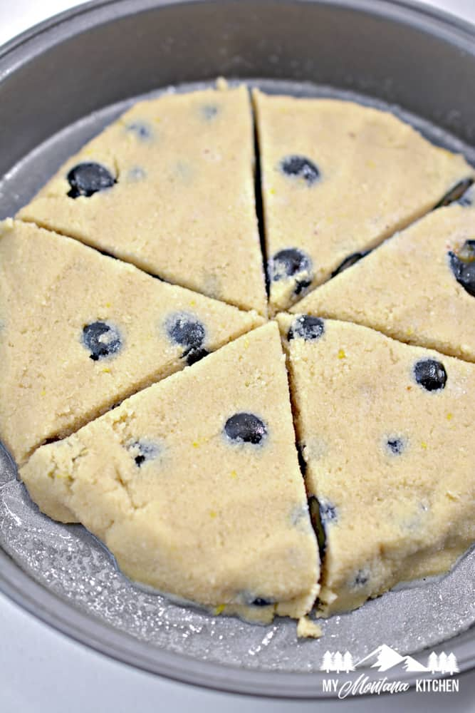 Image of ingredients for low-carb blueberry lemon scones