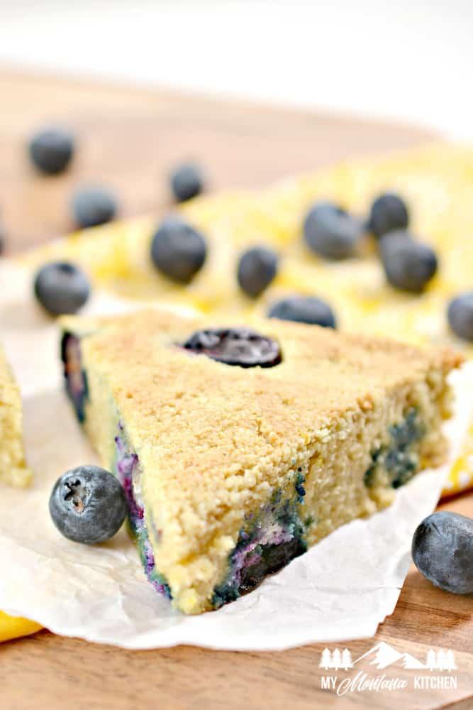 keto blueberry lemon scones