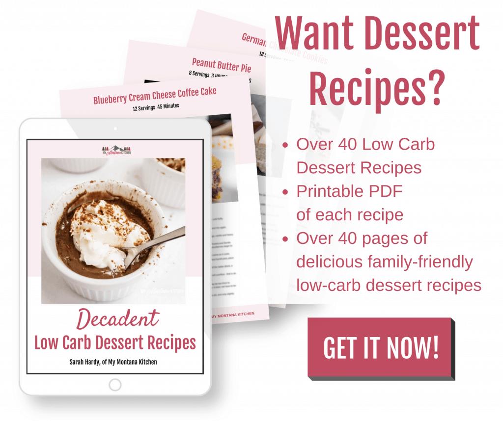 low carb desserts ebook