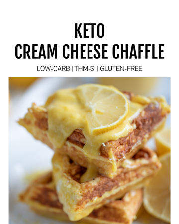 Keto Cream Cheese Chaffle featured image