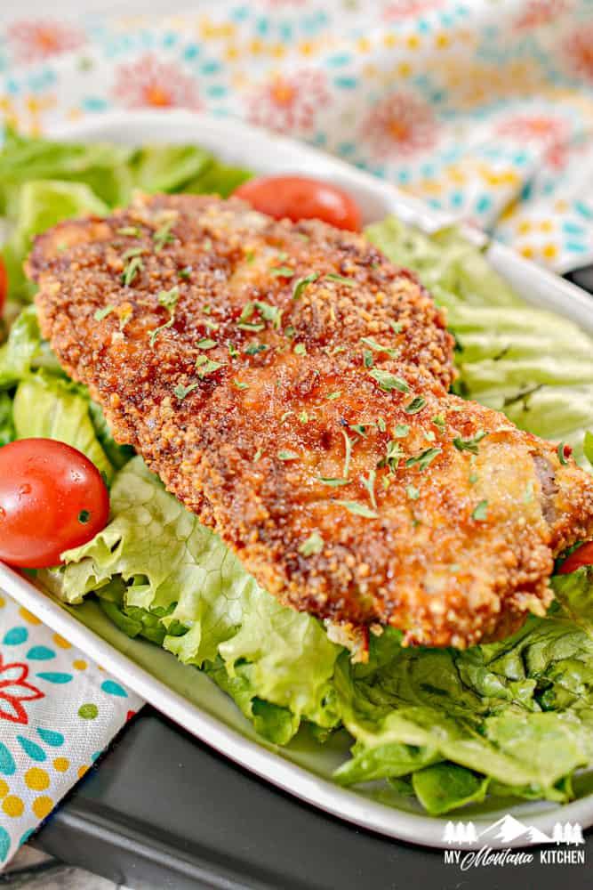 Image of air fryer Parmesan pork chop