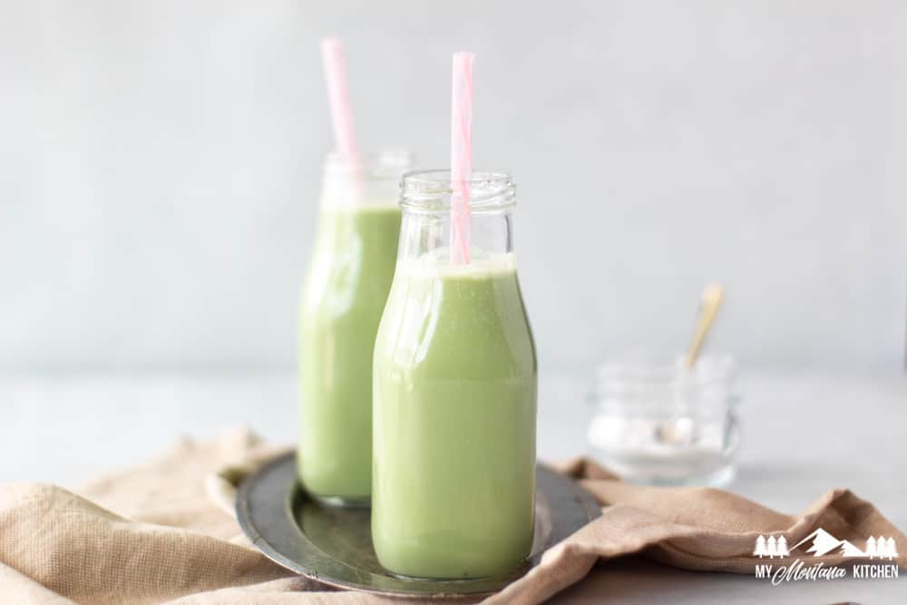 image of keto iced matcha latte