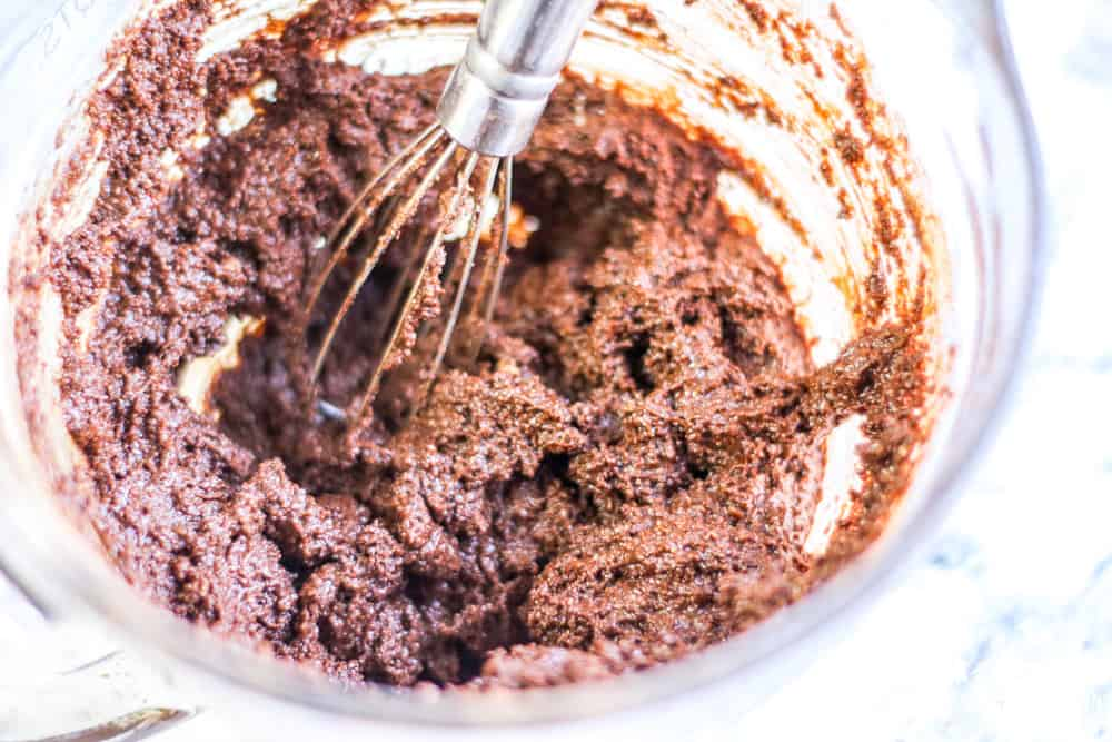 Ingredients for low carb chocolate zucchini bread