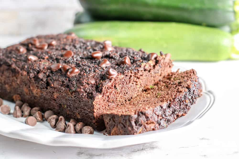 Image of low carb chocolate zuchinni bread