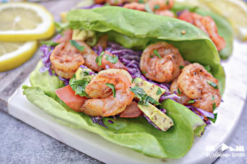Image for keto shrimp taco lettuce wraps