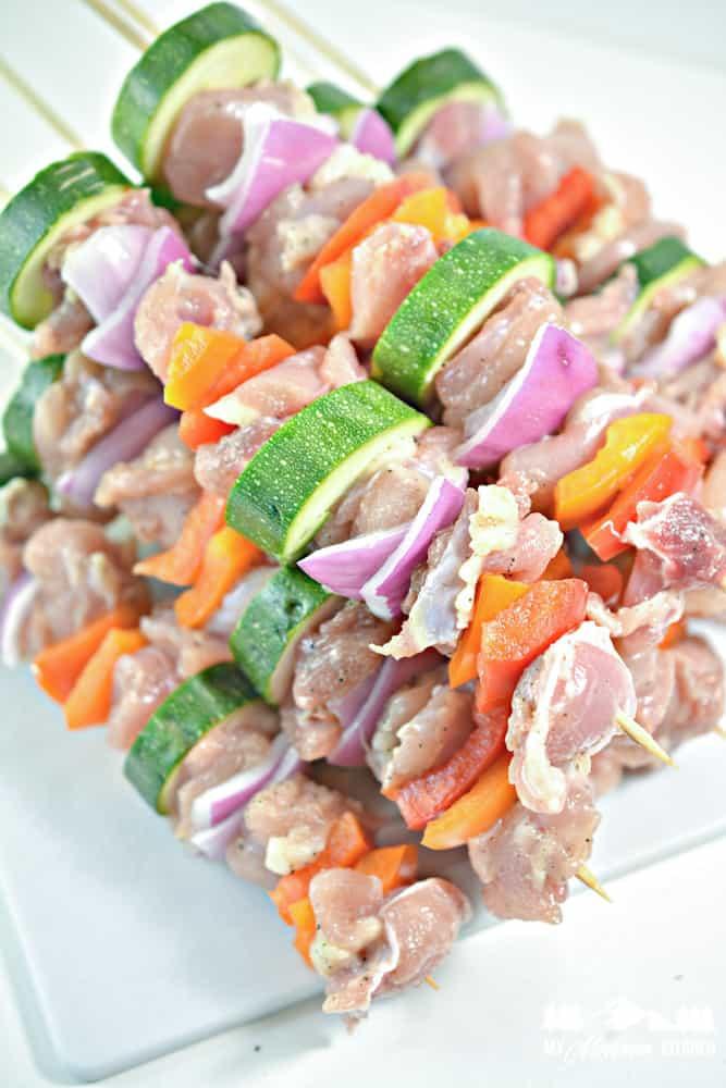 Keto Grilled Chicken Kebabs