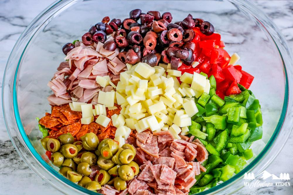 Low Carb Italian Chopped Salad