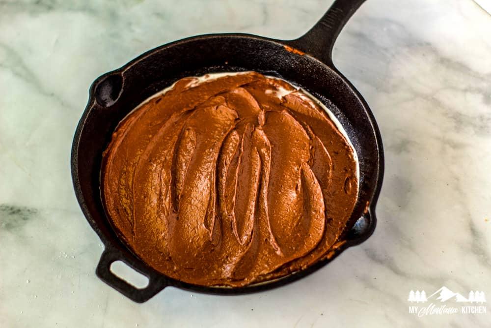 low carb skillet brownie