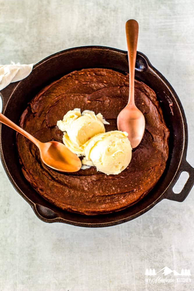 low carb skillet brownie