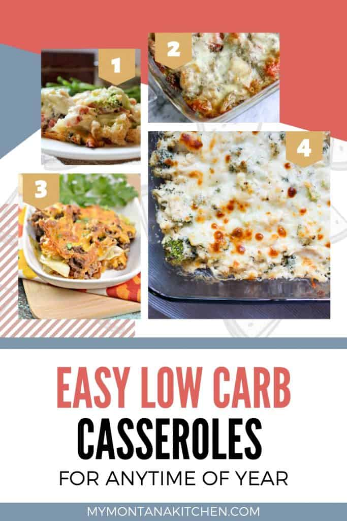 easy low carb casseroles pinterest image