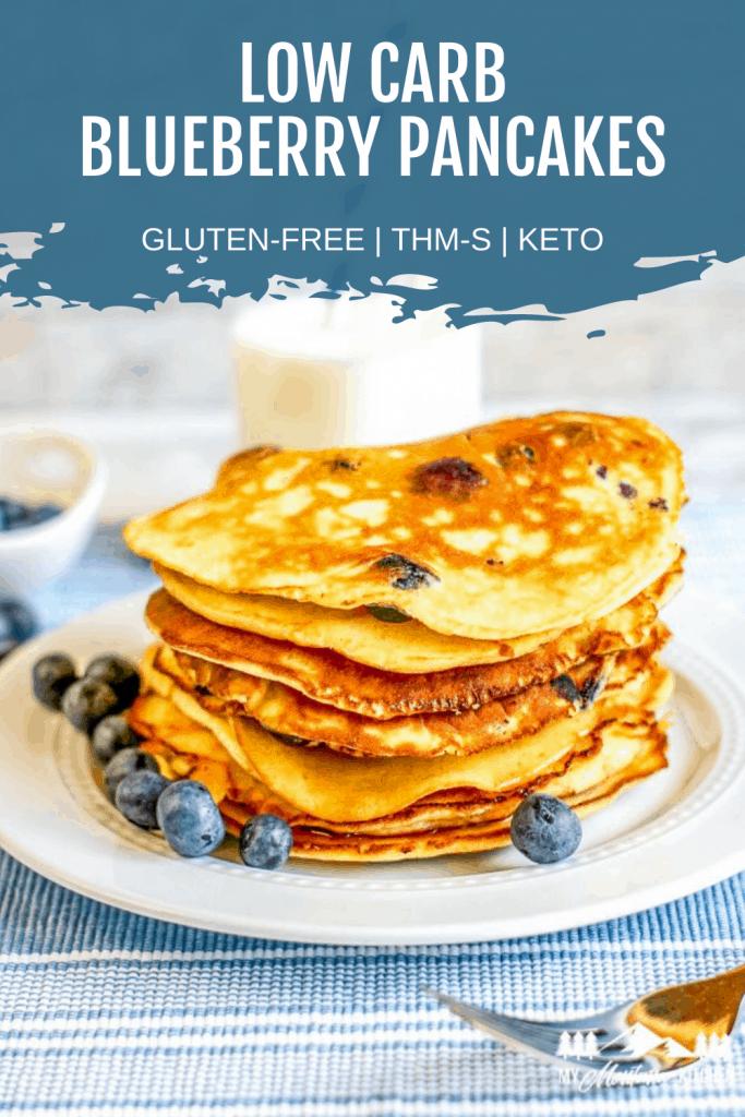 keto blueberry pancake pinterest image