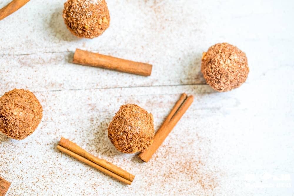 four keto churro fat bombs