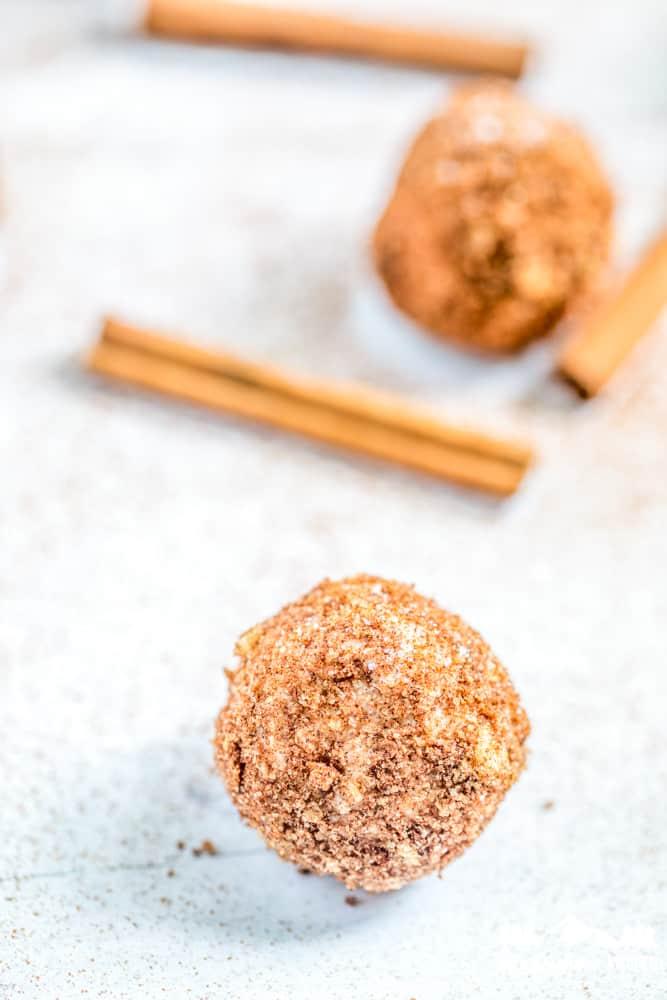 keto churro fat bomb with cinnamon stick