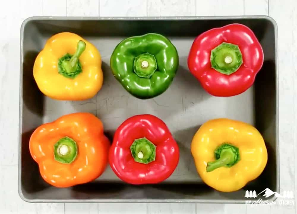 colored peppers